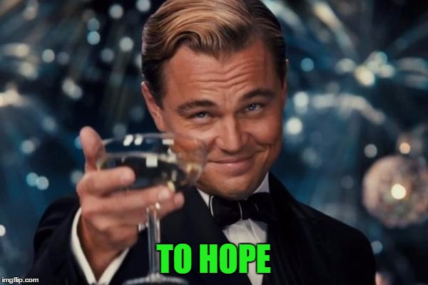 Leonardo Dicaprio Cheers Meme | TO HOPE | image tagged in memes,leonardo dicaprio cheers | made w/ Imgflip meme maker