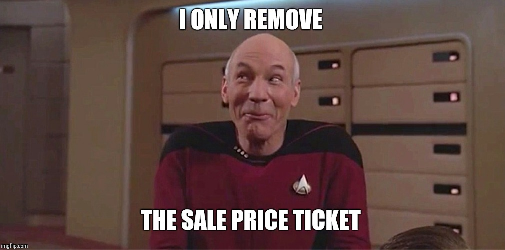 I ONLY REMOVE THE SALE PRICE TICKET | made w/ Imgflip meme maker