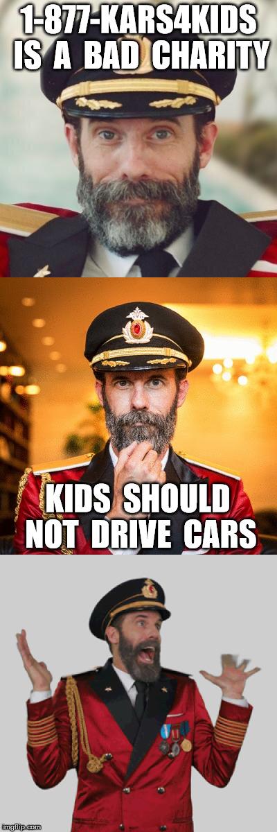 1 877 kars4kids is a bad charity kids should not drive cars image
