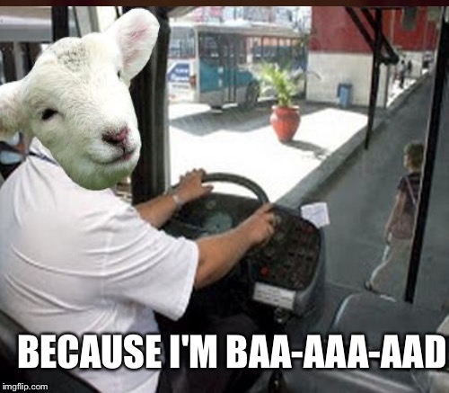 BECAUSE I'M BAA-AAA-AAD | made w/ Imgflip meme maker