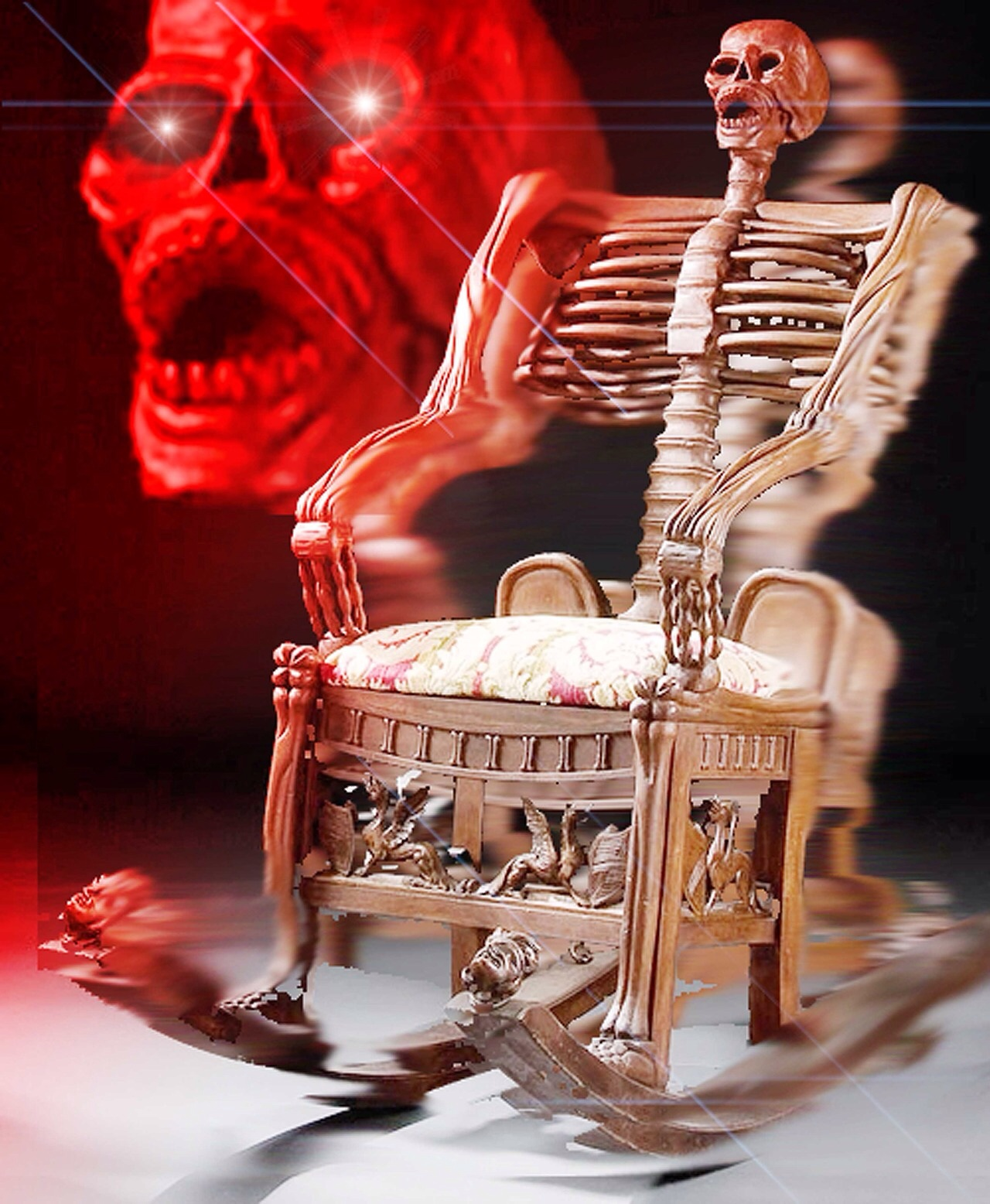 High Quality skeleton chair Blank Meme Template