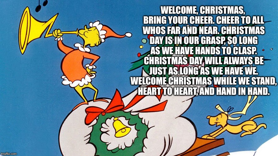 welcome christmas dr seuss