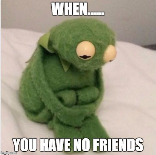 Sadness | WHEN...... YOU HAVE NO FRIENDS | image tagged in sadness | made w/ Imgflip meme maker