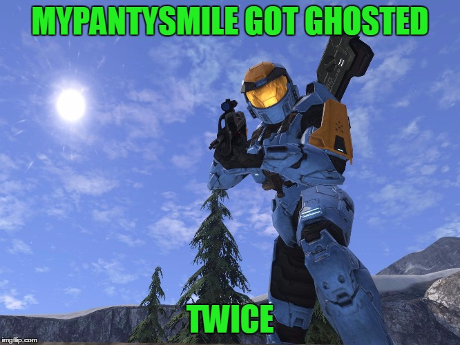 Demonic Penguin Halo 3 | MYPANTYSMILE GOT GHOSTED TWICE | image tagged in demonic penguin halo 3 | made w/ Imgflip meme maker