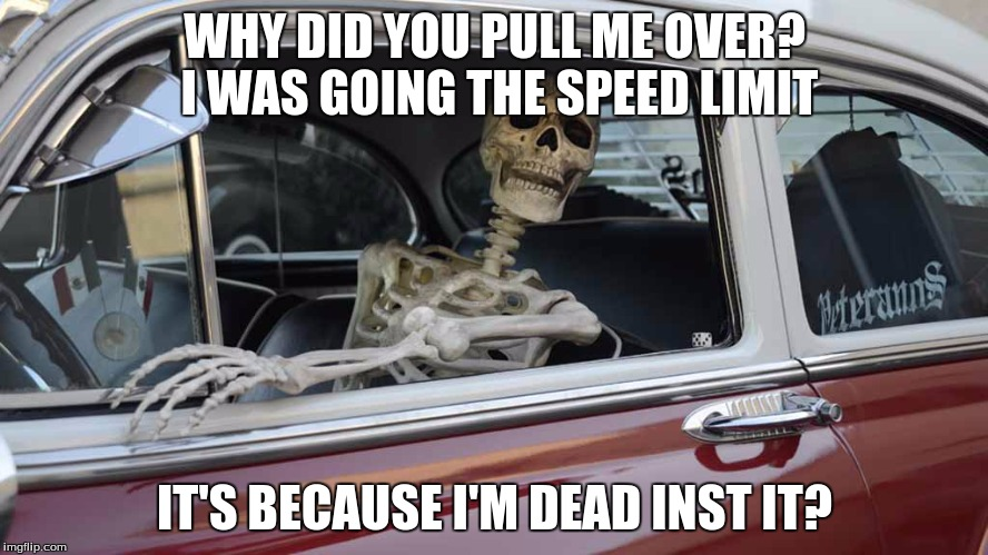 Waiting Skeleton Car Imgflip