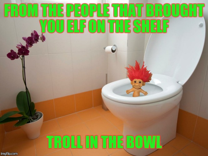 Making sure you keep your sh*t together | FROM THE PEOPLE THAT BROUGHT YOU ELF ON THE SHELF TROLL IN THE BOWL | image tagged in elf on the shelf,troll in the bowl | made w/ Imgflip meme maker