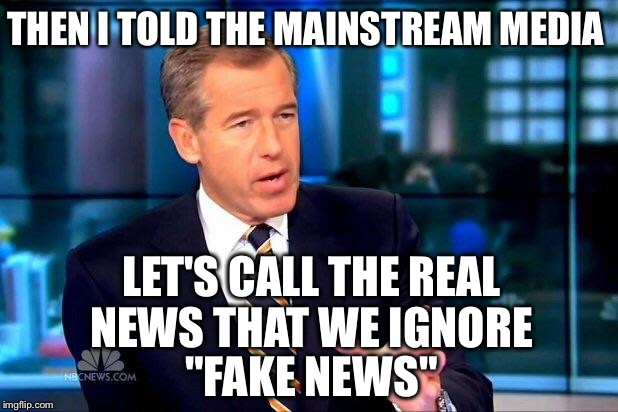 "Yeah....That's the ticket! | THEN I TOLD THE MAINSTREAM MEDIA LET'S CALL THE REAL NEWS THAT WE IGNORE ""FAKE NEWS"" 