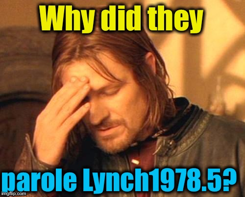 Why did they parole Lynch1978.5? | made w/ Imgflip meme maker