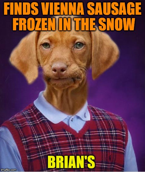 FINDS VIENNA SAUSAGE FROZEN IN THE SNOW BRIAN'S | made w/ Imgflip meme maker