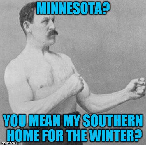 MINNESOTA? YOU MEAN MY SOUTHERN HOME FOR THE WINTER? | made w/ Imgflip meme maker