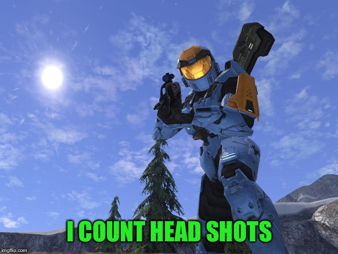 Demonic Penguin Halo 3 | I COUNT HEAD SHOTS | image tagged in demonic penguin halo 3 | made w/ Imgflip meme maker