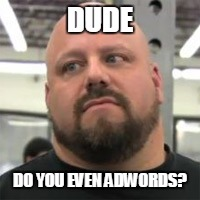 Do You Even Lift | DUDE DO YOU EVEN ADWORDS? | image tagged in do you even lift | made w/ Imgflip meme maker