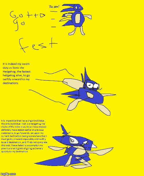 Sanic does a thing | image tagged in memes,funny,sanic,sonic the hedgehog,sonic,gotta go fast | made w/ Imgflip meme maker