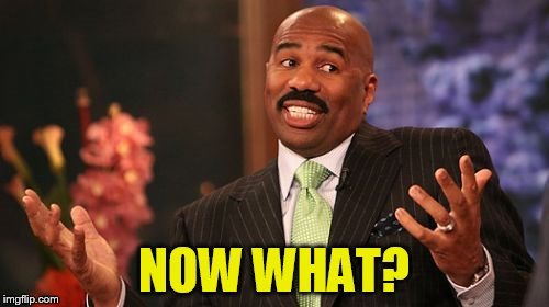 Steve Harvey Meme | NOW WHAT? | image tagged in memes,steve harvey | made w/ Imgflip meme maker