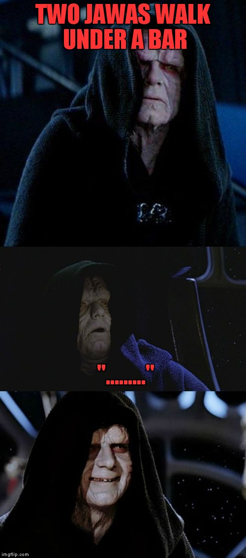"Cheesy joke day  | TWO JAWAS WALK UNDER A BAR ""........."" 