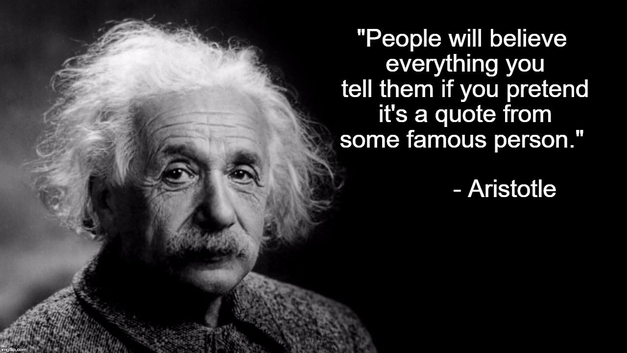 "Albert ""Aristotle"" Einstein 