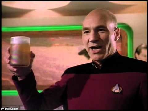 Picard Toasting | A | image tagged in picard toasting | made w/ Imgflip meme maker