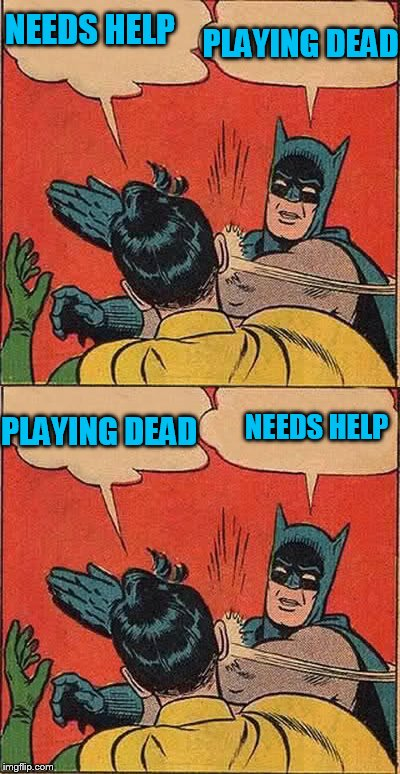 NEEDS HELP PLAYING DEAD NEEDS HELP PLAYING DEAD | made w/ Imgflip meme maker