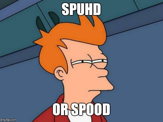 Futurama Fry Meme | SPUHD OR SPOOD | image tagged in memes,futurama fry | made w/ Imgflip meme maker