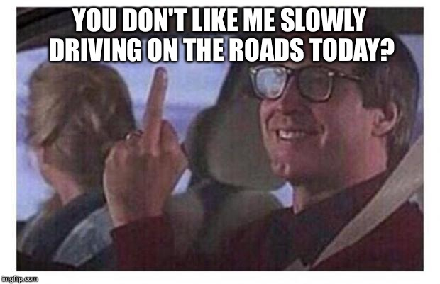 Christmas Vacation | YOU DON'T LIKE ME SLOWLY DRIVING ON THE ROADS TODAY? | image tagged in christmas vacation | made w/ Imgflip meme maker