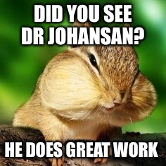 DID YOU SEE DR JOHANSAN? HE DOES GREAT WORK | made w/ Imgflip meme maker