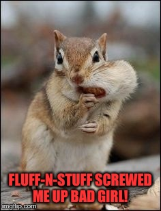 FLUFF-N-STUFF SCREWED ME UP BAD GIRL! | made w/ Imgflip meme maker