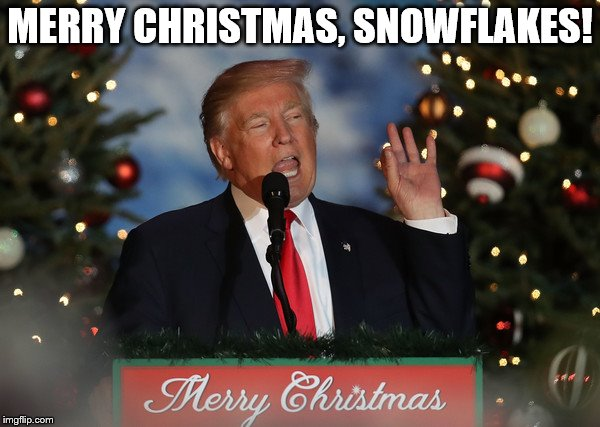 1g7ukp image tagged in trump,the donald,snowflakes,dhimmicrats,sore,Trump Christmas Meme