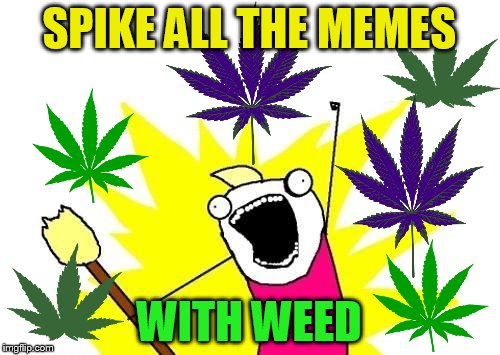 X All The Y Meme | SPIKE ALL THE MEMES WITH WEED | image tagged in memes,x all the y | made w/ Imgflip meme maker