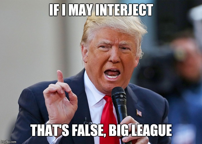IF I MAY INTERJECT THAT'S FALSE, BIG LEAGUE | made w/ Imgflip meme maker