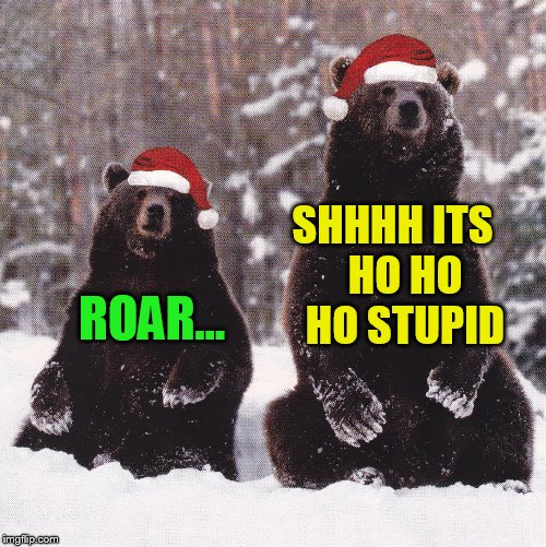 SHHHH ITS   HO HO HO STUPID ROAR... | made w/ Imgflip meme maker
