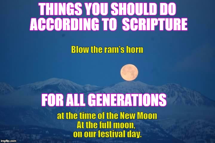 THINGS YOU SHOULD DO ACCORDING TO SCRIPTURE FOR ALL GENERATIONS | image tagged in bible,original meme,full moon | made w/ Imgflip meme maker