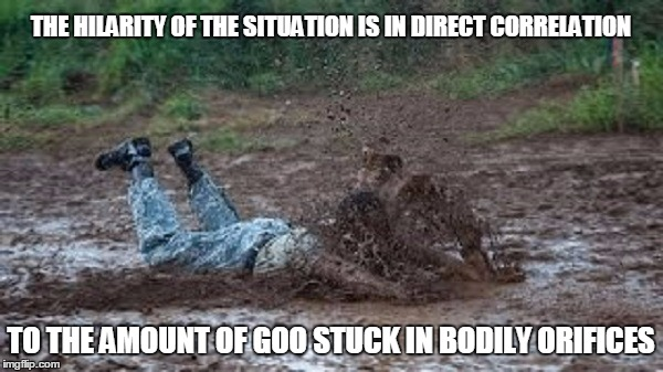 THE HILARITY OF THE SITUATION IS IN DIRECT CORRELATION TO THE AMOUNT OF GOO STUCK IN BODILY ORIFICES | made w/ Imgflip meme maker