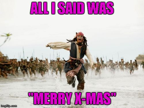 "Instead of being offended, just be ""greatful"" that they wished you a holiday greeting at all. 