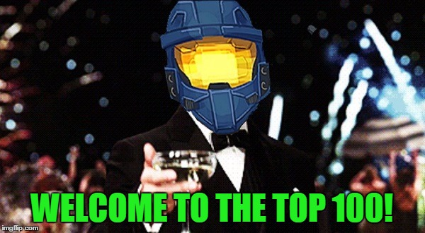 Cheers Ghost | WELCOME TO THE TOP 100! | image tagged in cheers ghost | made w/ Imgflip meme maker