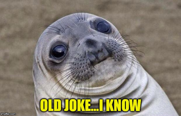 Awkward Moment Sealion Meme | OLD JOKE...I KNOW | image tagged in memes,awkward moment sealion | made w/ Imgflip meme maker