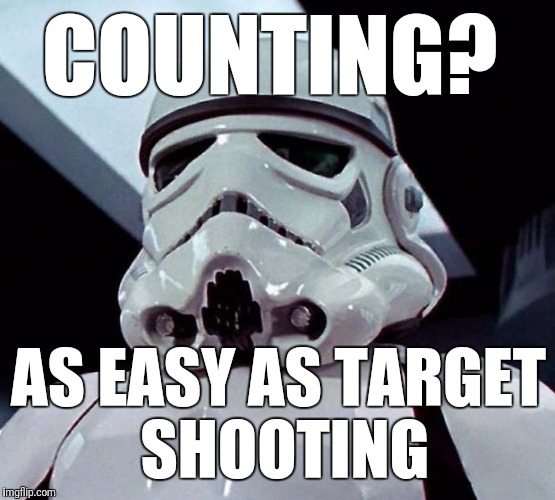 COUNTING? AS EASY AS TARGET SHOOTING | made w/ Imgflip meme maker