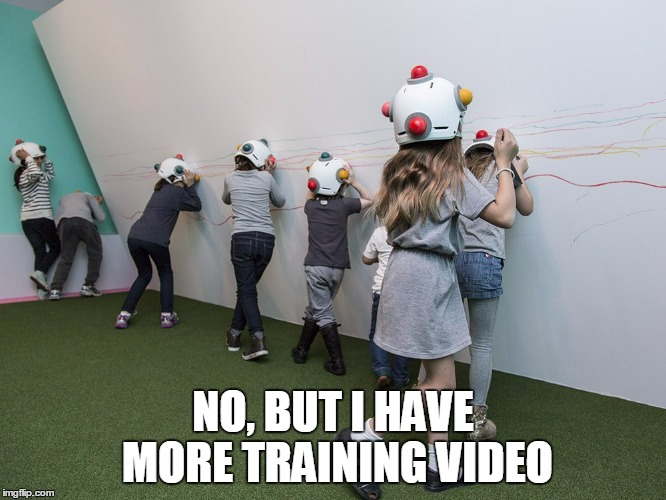 NO, BUT I HAVE MORE TRAINING VIDEO | made w/ Imgflip meme maker