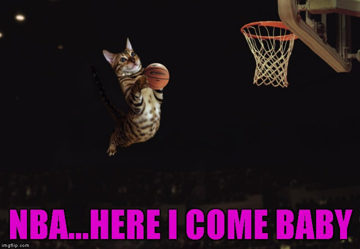 NBA...HERE I COME BABY | made w/ Imgflip meme maker