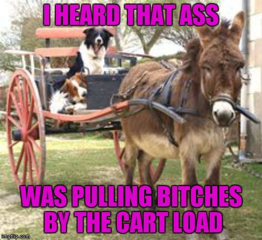 I HEARD THAT ASS WAS PULLING B**CHES BY THE CART LOAD | made w/ Imgflip meme maker