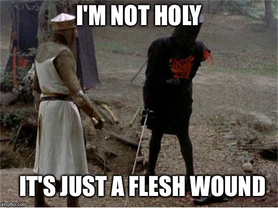 I'M NOT HOLY IT'S JUST A FLESH WOUND | made w/ Imgflip meme maker