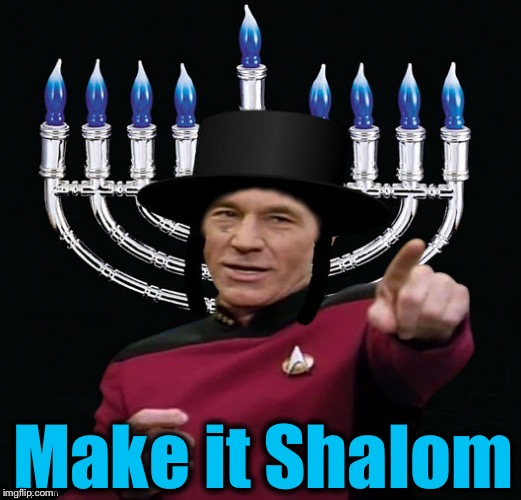 I'd like to wish all ImgFlippers a Merry Christmas and Happy Hanukkah!  Special thanks to Rabbi Jying for the Template!  | Make it Shalom | image tagged in happy hanukkah,memes,evilmandoevil,merry christmas,jying,funny | made w/ Imgflip meme maker