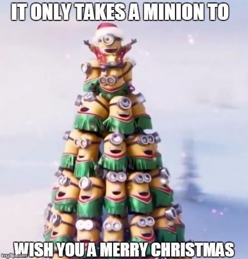 1gjp1r image tagged in minion christmas tree imgflip
