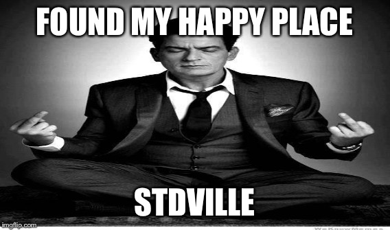 FOUND MY HAPPY PLACE STDVILLE | made w/ Imgflip meme maker