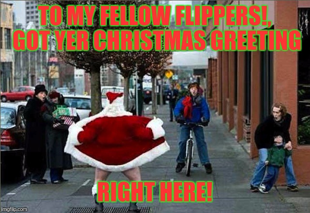 All I want for Christmas is our continued follies and laughs! All the best ya ba$tard$! | TO MY FELLOW FLIPPERS!, GOT YER CHRISTMAS GREETING RIGHT HERE! | image tagged in merry christmas,funny memes,sewmyeyesshut | made w/ Imgflip meme maker