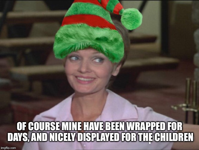 OF COURSE MINE HAVE BEEN WRAPPED FOR DAYS, AND NICELY DISPLAYED FOR THE CHILDREN | made w/ Imgflip meme maker