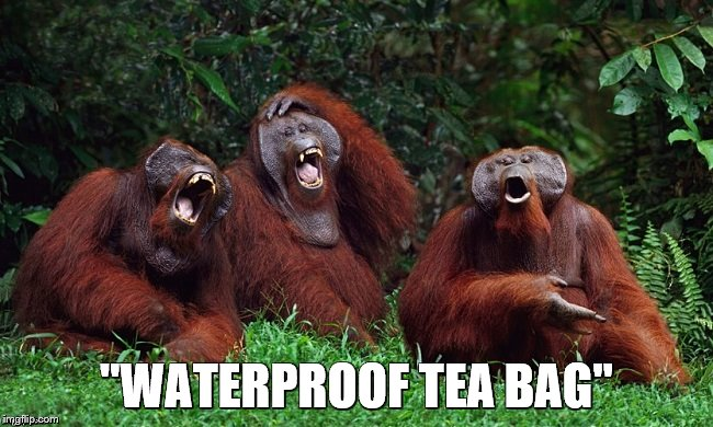 "laughing orangutans | ""WATERPROOF TEA BAG"" 