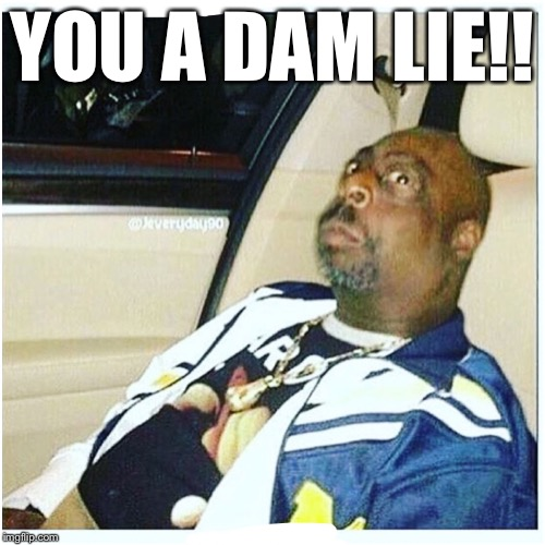 YOU A DAM LIE!! | image tagged in beetlejuice | made w/ Imgflip meme maker
