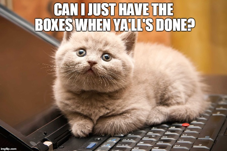CAN I JUST HAVE THE BOXES WHEN YA'LL'S DONE? | made w/ Imgflip meme maker