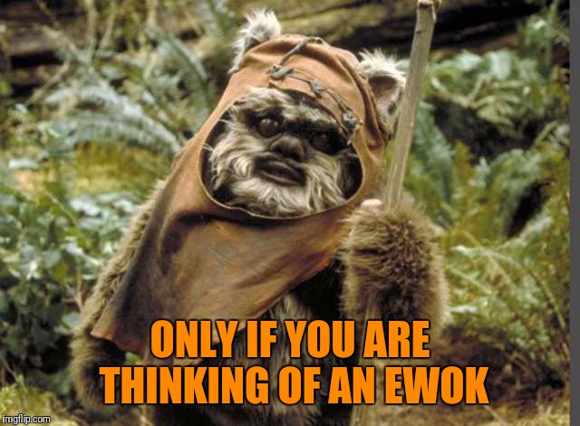 ONLY IF YOU ARE THINKING OF AN EWOK | made w/ Imgflip meme maker