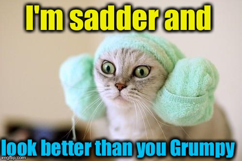 I'm sadder and look better than you Grumpy | made w/ Imgflip meme maker